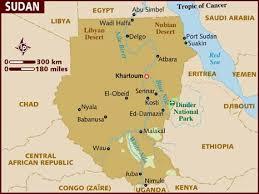 africa map khartoum map of sudan