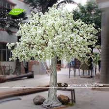 artificial tree gnw bls022 large artificial trees 12ft real touch flower well