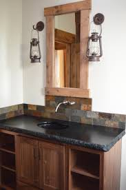 soapstone with 6 cm chipped edge shaker style cabinets made out