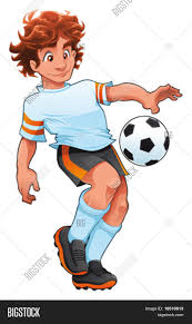 soccer player cartoon and vector sport character isolated