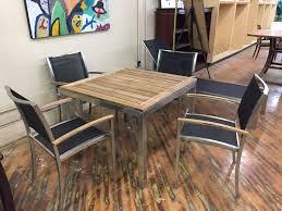 Teak Outdoor Table Kingsley Bate Tiburon Stainless Steel U0026 Teak Outdoor Furniture