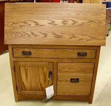 mission large secretary desk with file drawer amish traditions wv