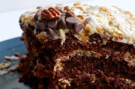 salted caramel vegan german chocolate cake u2014 allspice u0026 ally