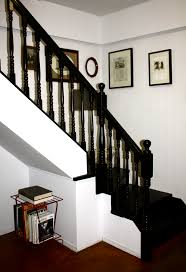 how to paint a staircase black painted staircases railings and