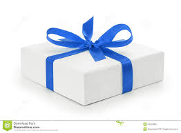 gift boxes with bow white textured gift box with blue ribbon bow stock photo image
