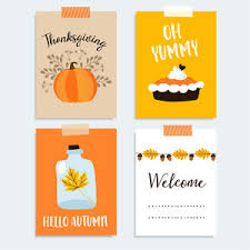 acorn leaf thanksgiving card in vector format royalty
