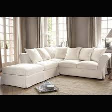 canapé ivoire canapé d angle 6 places en coton ivoire roma corner sofa home