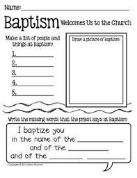 baptism writing response page for grades k 1 teacherspayteachers