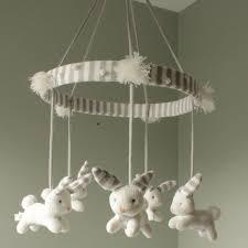 Bunny Nursery Decor Knit Bunny Mobile Nursery Decor Mobiles Zubels Toys