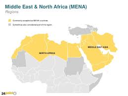 middle east map ppt map of middle east and africa mena editable powerpoint slid
