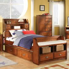 Bookcase Headboard Queen Charming Queen Storage Bed With Bookcase Headboard Queen Storage