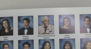 high school yearbooks photos why kfc paid to put colonel sanders in an obscure california high