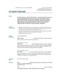 How To Write A Resume Without Work Experience Sample College Student Resume No Work Experience Nice Looking