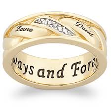 gold bands men s 18k gold sterling woven diamond name band 38272