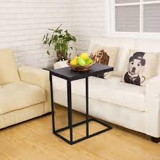 costway hw54186 coffee tray sofa side end table ottoman couch