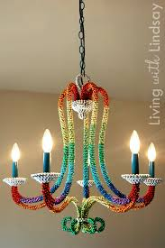mardi gras bead chandelier bead wrapped chandelier decor hacks