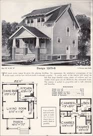 1920s floor plans two story side gable craftsman plan cottage c l bowes company