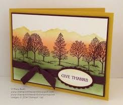 stin up handmade thanksgiving card the colors