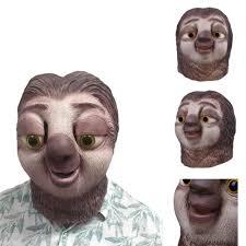 aliexpress com buy sloth latex mask zootopia sloth mask nick