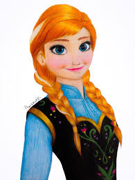 frozen anna colored pencils drawing video amana hb