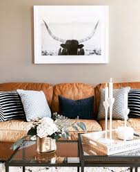 Camel Leather Sofa by Pantone Butterum Black Accents Leather Sofas And Terra Cotta