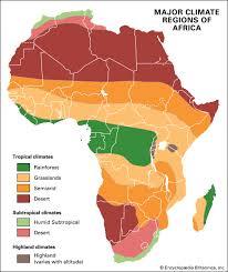 africa map climate zones africa climate britannica homework help