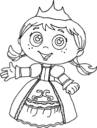 princess red super why coloring page wecoloringpage