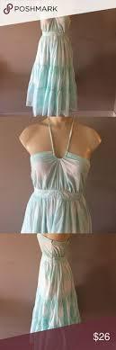 light blue halter maxi dress sold max studio dress color tag studio and black cream