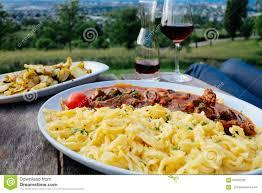 Germany Map Freiburg by German Egg Noodles Spatzle Wine Potatoes At Jesuitenschloss