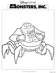 coloring page monsters inc monsters inc coloring pages monsters inc coloring monsters inc color