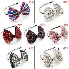 wholesale hair accessories drill diamante bow headband rhinestone hair accessories