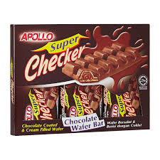 apollo super checker chocolate wafer bar 50g from redmart