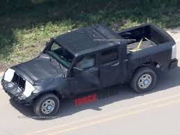 jeep wrangler pickup 2017 it u0027s real 2019 jeep wrangler pickup caught testing photo u0026 image