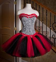 custom size queen of hearts red black and white burlesque corset