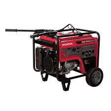 honda 6500 watt gasoline portable generator with gfci outlet