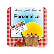 name tags for reunions stickers name tags picnic in the park reunion zazzle picnic