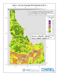 Idaho State Map by Windexchange Wind Energy In Idaho