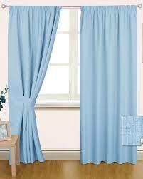 Blue Curtains Blue Curtains Pencil Pleat Blackout Curtain Pair Idolza