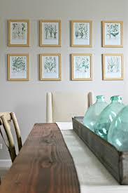 Dining Room Prints Botanical Gallery Wall In Dining Room Delightfully Noted