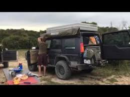 Wing Awning Bundutec Pole Less Half Wing Awning Set Up Youtube