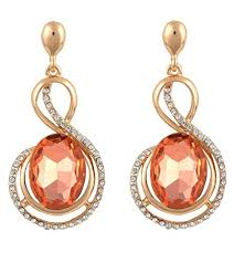 stylish earrings crunchy fashion jewellery gold plated stylish earrings for