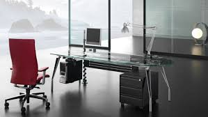 idabel dark brown wood modern desk with glass top delight ideas computer desk shopping excellent standing desk