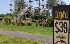 Backyard Zip Line Without Trees by Saco Zipline Tour And Adventure Course