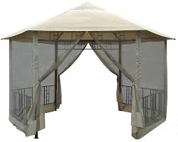 Small Patio Gazebo by Amazon Com Dc America Go31805bl Bb Hexagon Gazebo With Insect