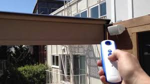 Drop Down Blinds Motorized Drop Down Curtain Quayle U0026 Company Awnings Youtube