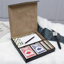 gentleman gift set personalised gentlemen s cards dice and domino set by dibor