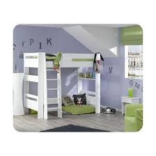 chambre enfant mezzanine pack lit mezzanine enfant wax 90x190 cm avec matelas blanc ma
