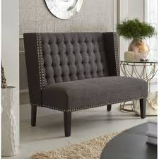 small upholstered bench wayfair