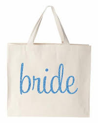 bridal party tote bags sparkling glitter print canvas bridal party tote ideas for
