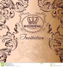 vintage style wedding invitations wedding invitation card in vintage style stock vector image